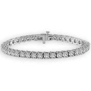 Sparkling round brilliant cut 5.70 carats diamonds